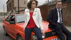 Alex Drake and Gene Hunt on Audi