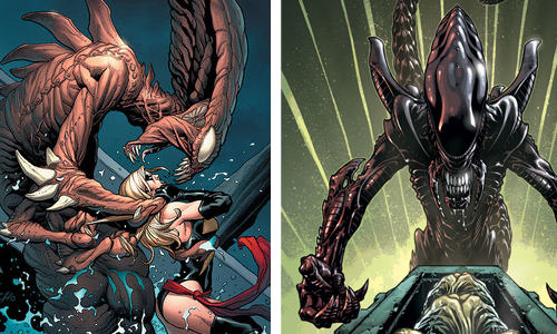 comic book character knockoffs Brood and Aliens