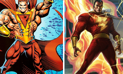comic book character knockoffs Captain Marvel & Prime