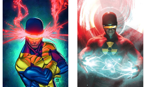 comic book character knockoffs Cyclopse & Solar