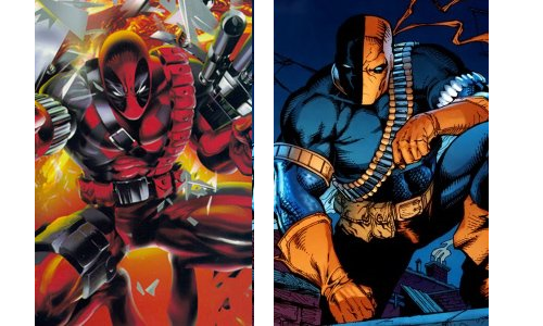 comic book character knockoffs Deadpool and Deathstroke