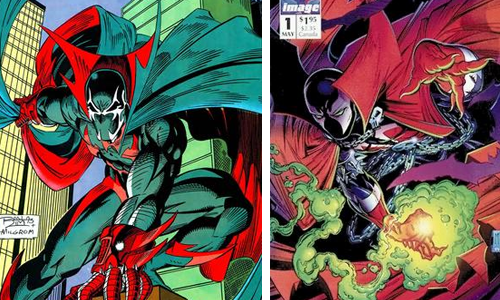 comic book character knockoffs Nightwatch & Spawn
