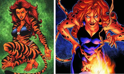 comic book character knockoffs Tigra & Cheeta
