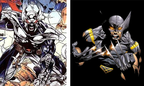 comic book character knockoffs Shadowhawk and Wolverine