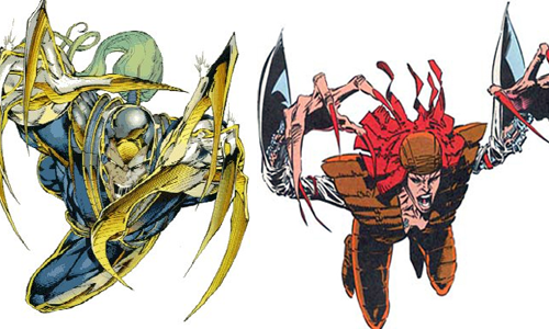 comic book character knockoffs Warblade & Lady Deathstrike