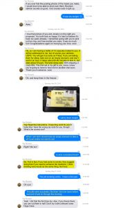 Kay Richards text about Mark Pitta's illegal prescription