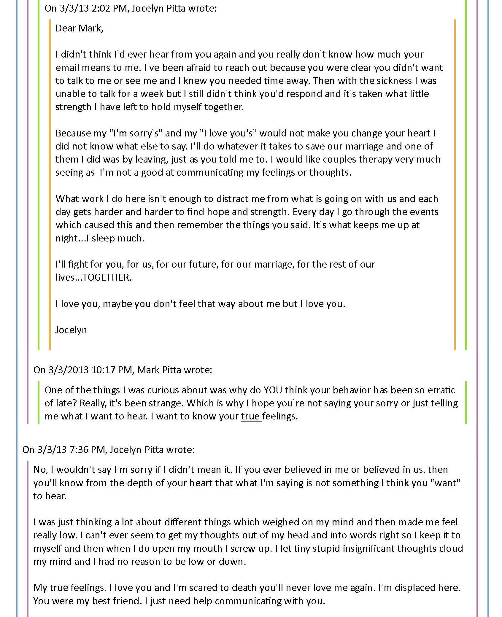 mark pitta a sick wife will be punished and thrown out pt  mark pitta email reflection pg 2