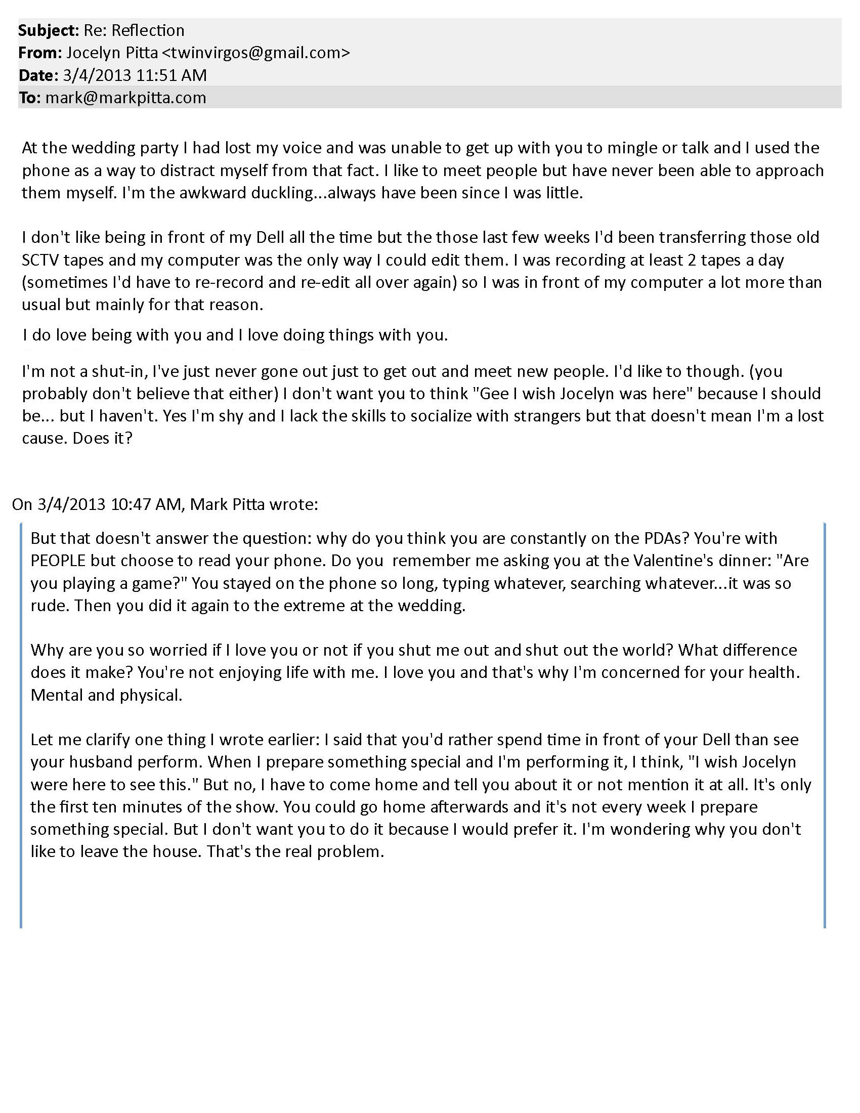 mark pitta a sick wife will be punished and thrown out pt  mark pitta email reflections pg 3