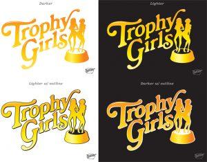 Title logo trophy girls