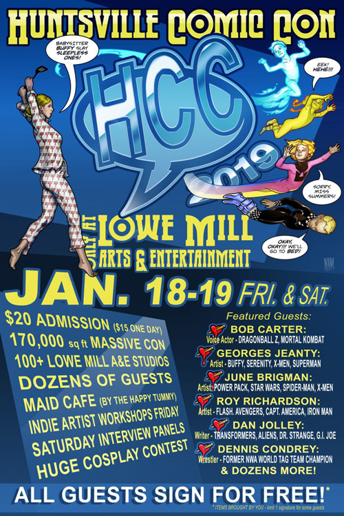2019 Huntsville Comic Convention poster