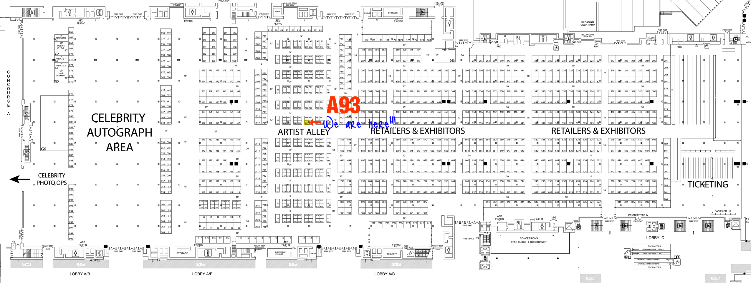 FanExpo Dallas Floor Plan